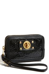 Marc By Marc Jacobs Turnlock Python Shine Wristlet Wallet - Lyst
