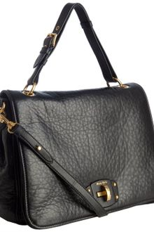 Miu Miu Black Leather Turnlock Convertible Shoulder Bag - Lyst