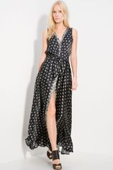 Pierre Balmain Print Silk Maxi Dress - Lyst
