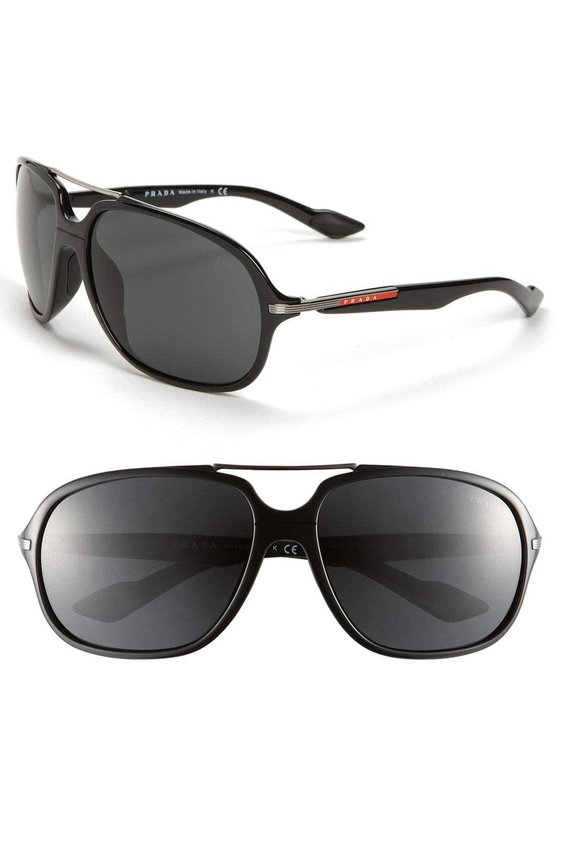 4ddd1dc076c Prada Aviator Sunglasses in Black for Men