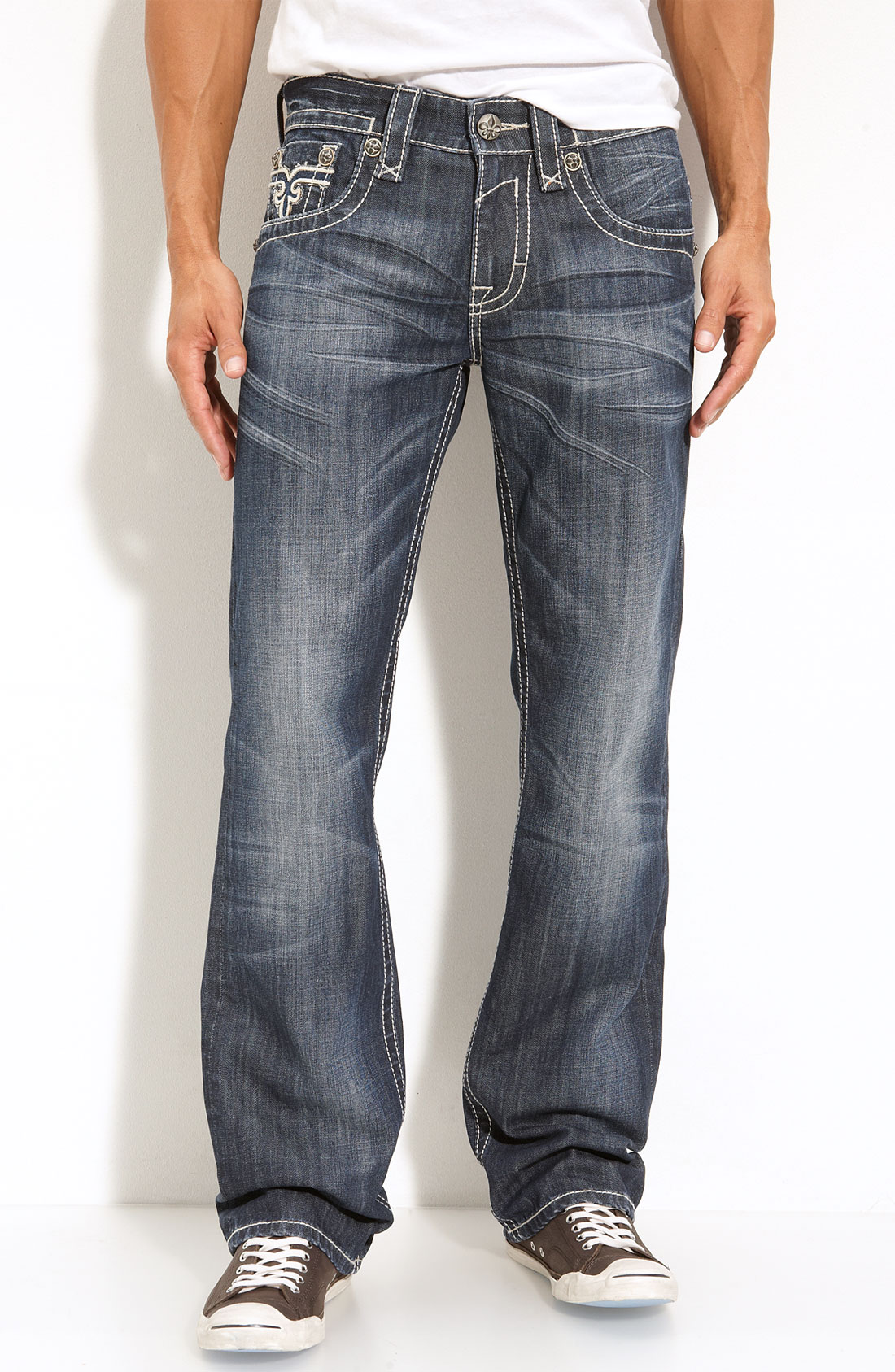Rock Revival Paul Straight Leg Jeans In Blue For Men | Lyst