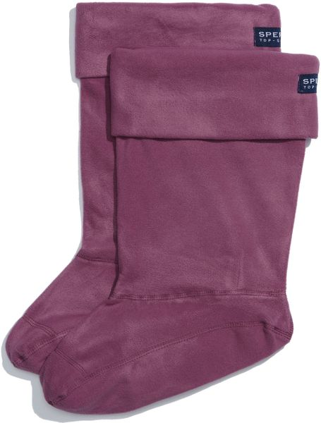 Sperry Top-sider Fleece Socks in Purple (plum) - Lyst
