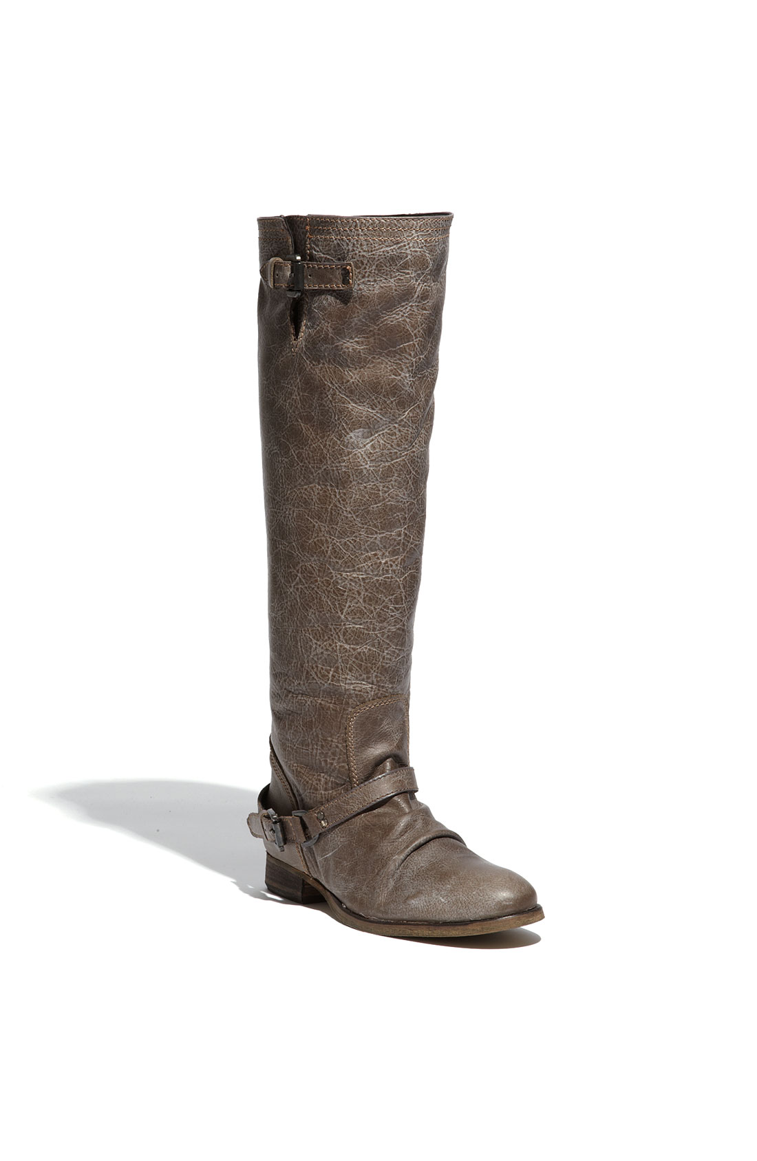 steve madden rovvee boot in brown leather lyst
