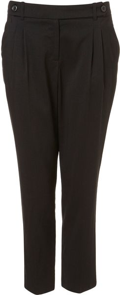 Topshop Double Tab Tapered Trousers - Lyst