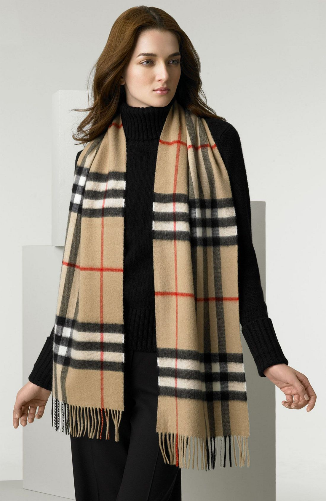 7cd83a9ed55 ... official store burberry giant icon check cashmere scarf c1732 c3bb3