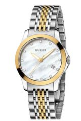 Gucci G Timeless Small Diamond Index Bracelet Watch - Lyst