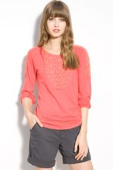 Lucky Brand Elli Lace Trim Top - Lyst