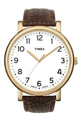 Timex® Easy Reader Leather Strap Watch - Lyst