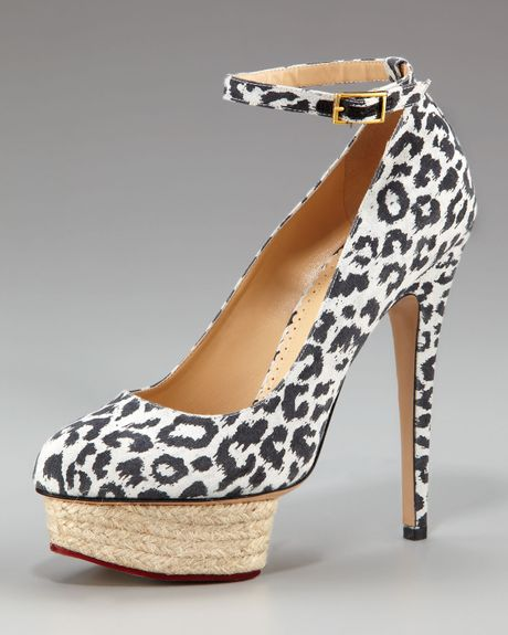 Charlotte Olympia Leopardprint Platform Pump in Animal (leopard) - Lyst