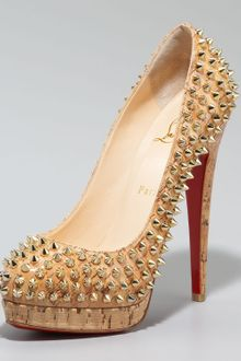 Christian Louboutin Altipump Spike Cork Pumps - Lyst