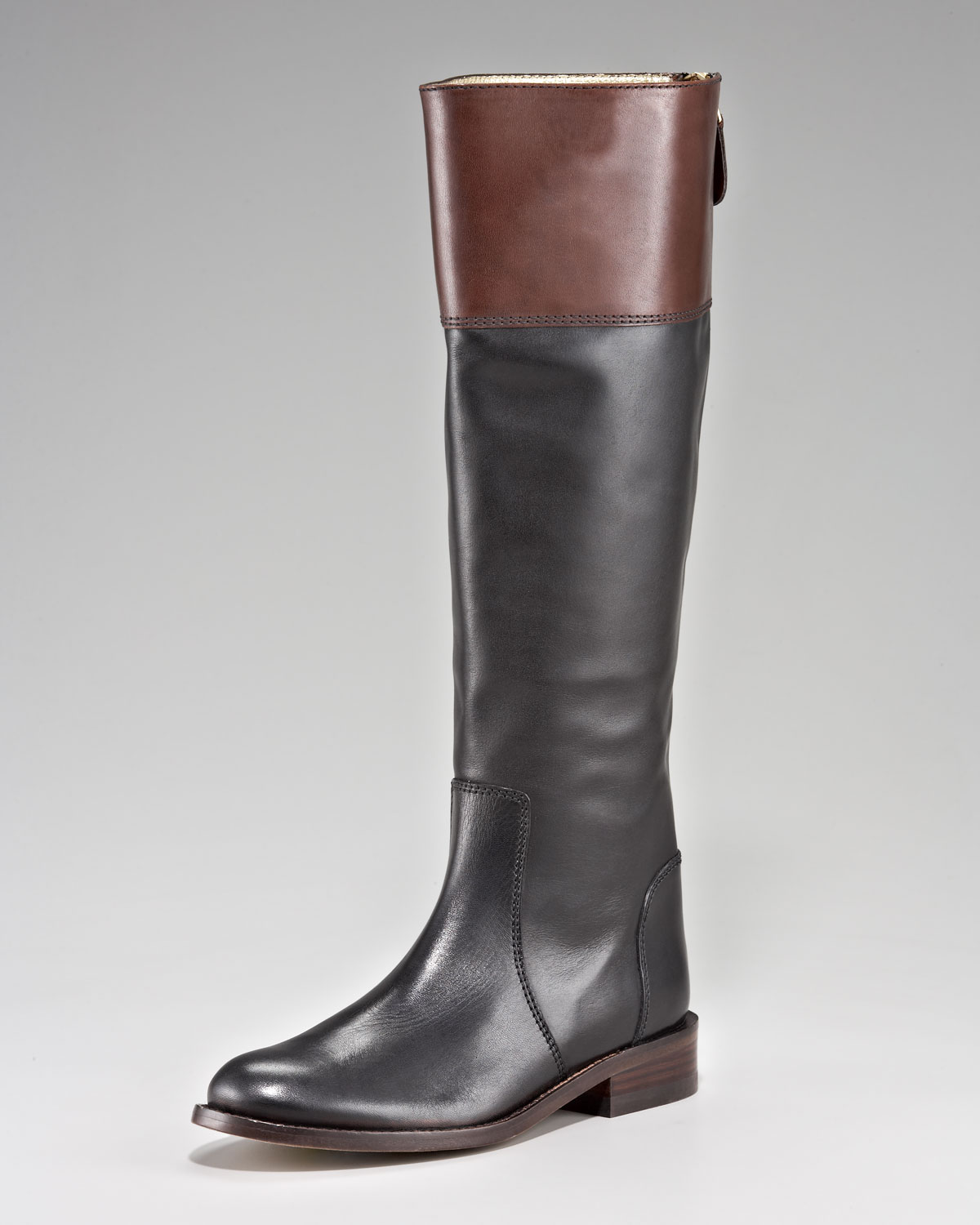 Juicy Couture Reston Two Tone Riding Boot In Black Lyst
