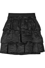 Lanvin Tiered Ramie-blend Mini Skirt - Lyst