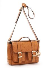 Michael by Michael Kors Ostrich-embossed Saddle Bag School Satchel, Luggage - Lyst