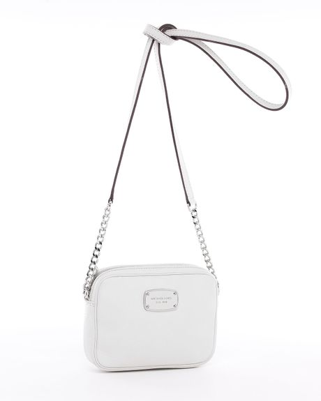 Michael By Michael Kors Jet Set Crossbody in White (vanilla) - Lyst