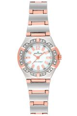 Ak Anne Klein Crystal 2-tone Bracelet Watch - Lyst