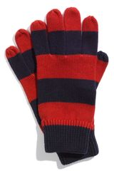Brooks Brothers Rugby Stripe Gloves - Lyst