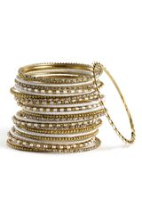 Cara Accessories Mix Media Bangles - Lyst