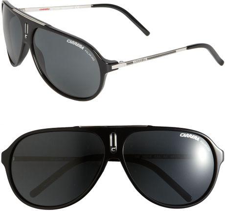 Carrera 'Hots' 64Mm Aviator Sunglasses in Black for Men