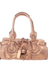 Chloé Metallic Leather Bag in Gold (bronze) - Lyst