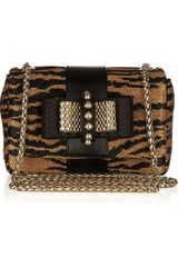 Christian Louboutin Sweet Charity Panama Patterned Raffia Shoulder Bag - Lyst