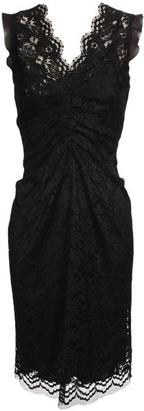 Dolce & Gabbana Floral Lace Dress with Silk Lining - Lyst