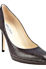 Jimmy Choo  Lizard Embossed Leather Aimee Pumps - Lyst