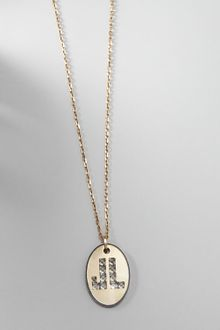 Lanvin Long Logo-pendant Necklace - Lyst
