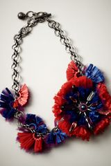 Lanvin Raffia Flower Choker Necklace - Lyst