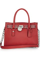 Michael by Michael Kors Hamilton Rock N Roll Leather Tote - Lyst