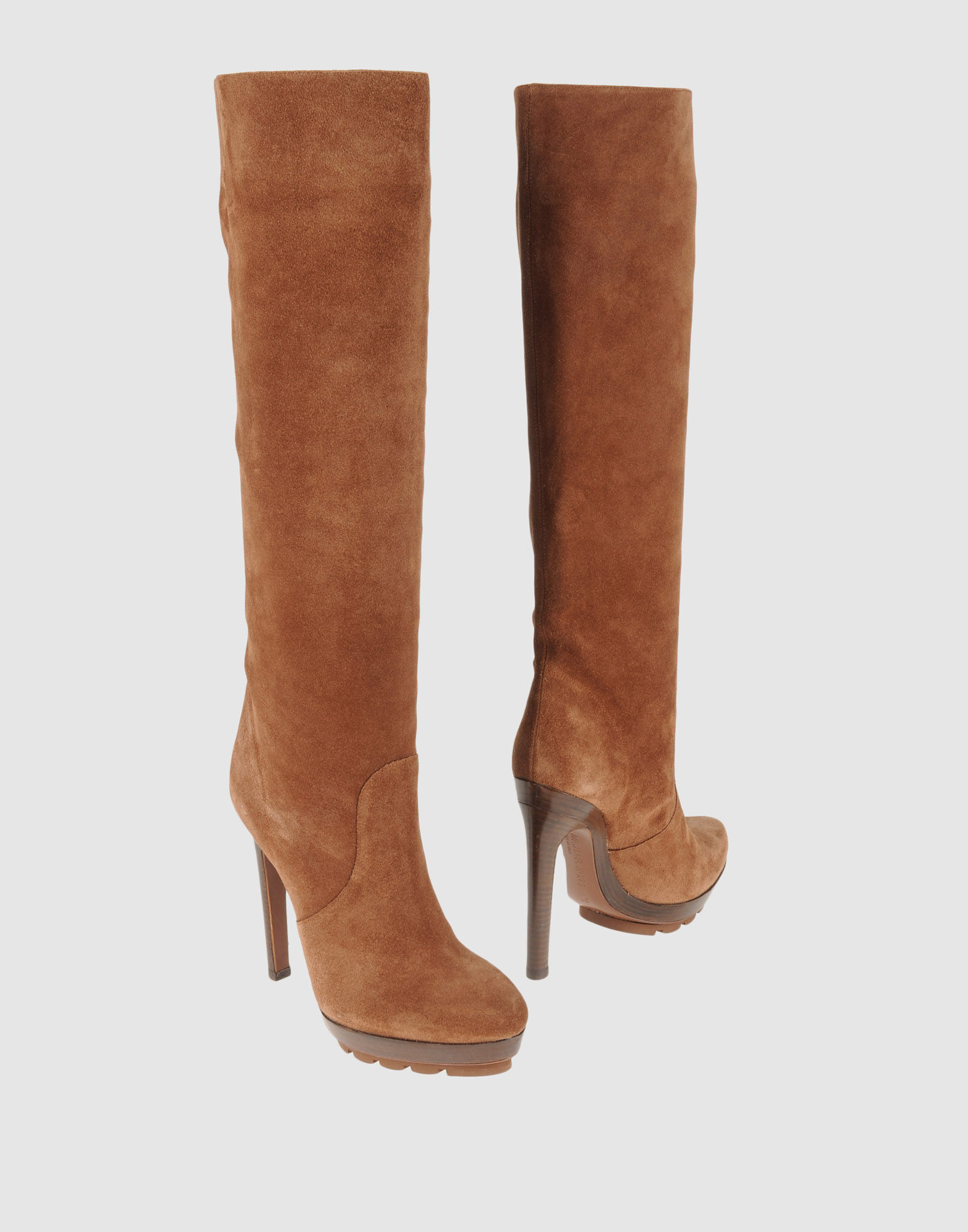 michael kors high heeled boots in brown lyst
