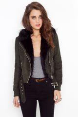 Nasty Gal Berlin Shearling Jacket - Lyst