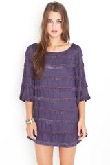 Nasty Gal Plum Fringe Dress - Lyst