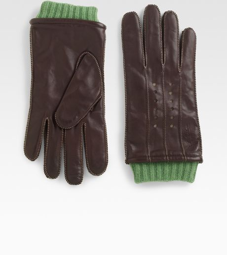 Robert Graham Leather Gloves in Brown for Men - Lyst