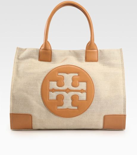 Tory Burch LogoStacked T Hobo Bag in Brown (tan) - Lyst