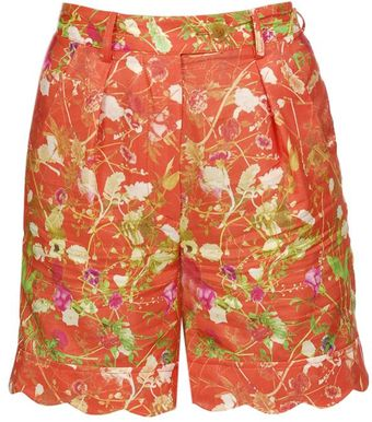 Opening Ceremony Floral Printed Cotton-silk Shorts - Lyst