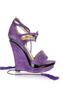 Rachel Zoe Kayne - Purple Suede Wedge - Lyst