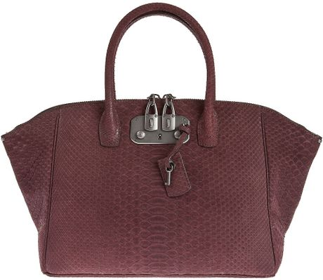 Vbh Python Skin Bag in Purple - Lyst