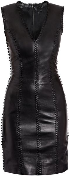 Alexander McQueen Leather Dress - Lyst
