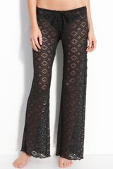 Becca Crochet Cover-up Pants - Lyst