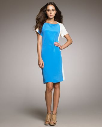 Derek Lam Colorblock Sheath Dress - Lyst