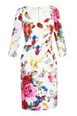Dolce & Gabbana Silk Butterfly-print Dress - Lyst