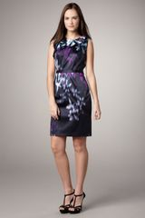 Elie Tahari Brittany Printed Dress - Lyst