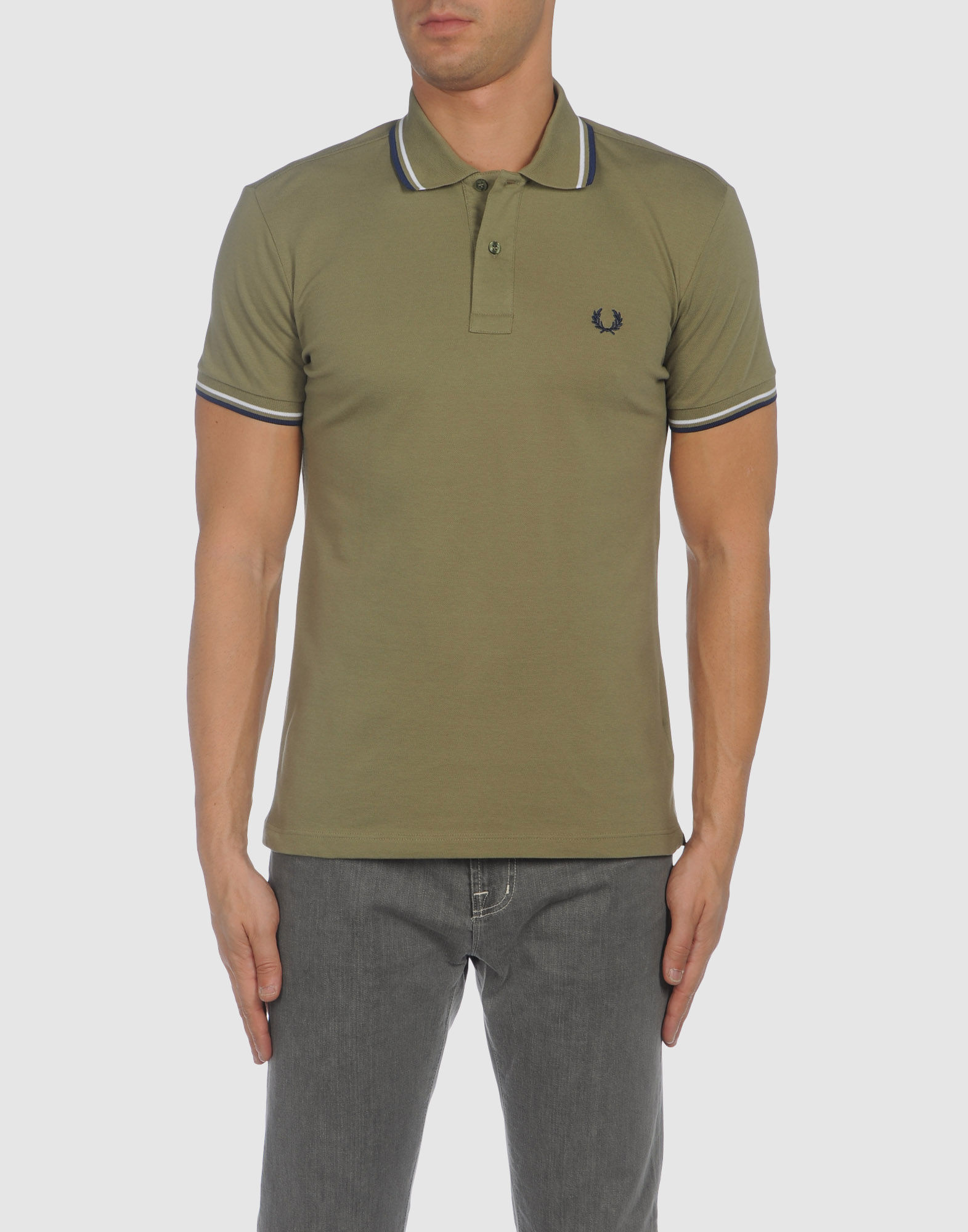 Fred Perry Polo Shirts in Green for Men | Lyst