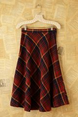 Free People Vintage Plaid Skirt in Red - Lyst