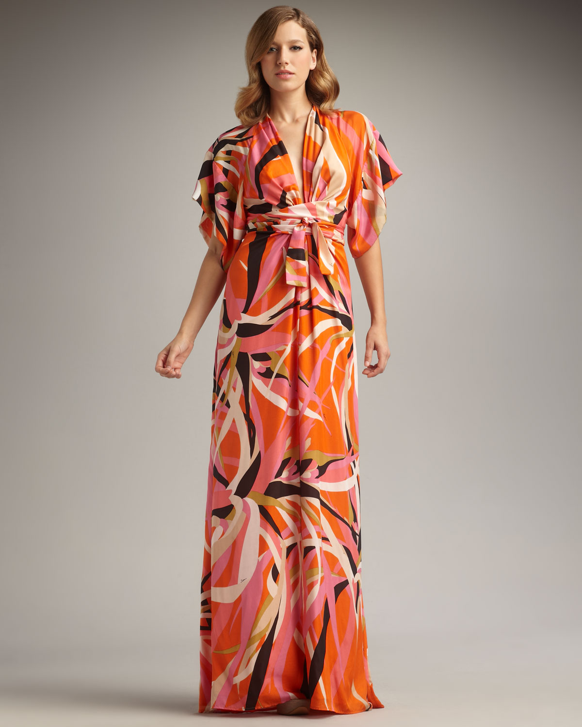 Jersey Maxi Dresses With Short Sleeves – DACC