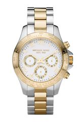 Michael Kors Two-tone Chronograph Layton Watch - Lyst