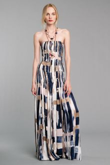 Oscar de la Renta Embroidered Strapless Gown - Lyst