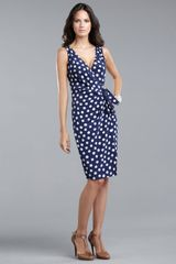 St. John Collection Dot Dress - Lyst