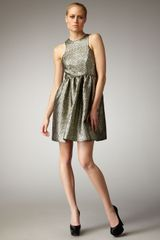 Tibi Metallic Paisley Jacquard Dress - Lyst