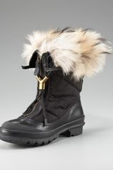 Burberry Fur-lined Quilted Boot - Lyst